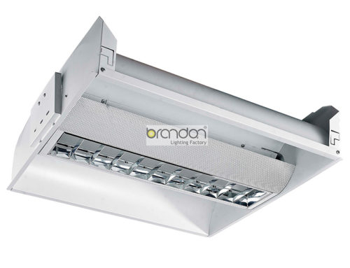 Recessed grille lighting tube fixture